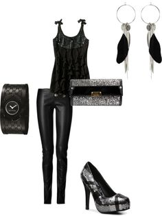 """""""black,silver"""" by kristal-coon-facemyer on Polyvore"""