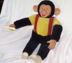 I remember the banana that mine held in his hand. They all did, but that is the first thing I thought of when I saw this. Yes, she had one too! We also had imaginary monkeys. Mine as Chad and hers was Chipper. Funny the things you can remember. Sweet memories!