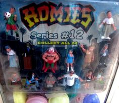Homies figures in a gumball machine. Loved dropping quarters for those!!