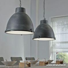 Hanglamp industrie beton balk 2-lichts | Straluma