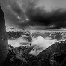 Standing On Trolltunga, Norway