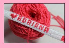 Como hace pulseras en hilo con el nombre personalizadas [fácil] //ADRIANA