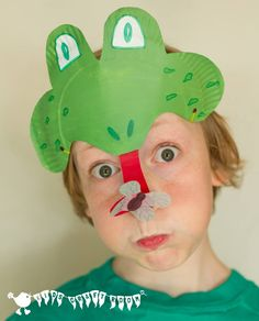 Paper Plate Frog Mask Craft