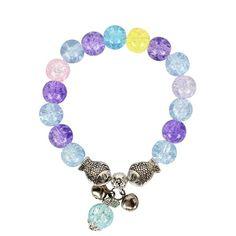 Womens Round Handmade Glass Bracelet NHCT123035