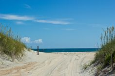 The last road at Hatteras Island Ramp 55