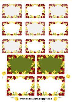 Free printable vintage rose tags and labels - ausdruckbare Etiketten - freebie | MeinLilaPark – digital freebies