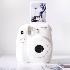 Instax Mini 8 Instant Camera - Instax Camera - ideas of Instax Camera. Trending Instax Camera for sales. - Buy this popular Instax Mini 8 Instant Camera sold by one of our favourite stores. White Pink Sky and Black colours are available . Check it out ! Instax Mini 8, Instax Mini Camera, Fujifilm Instax Mini, Aesthetic Colors, Aesthetic Pictures, Aesthetic Yellow, Fred Instagram, Disney Instagram, Images Esthétiques