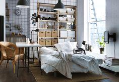 Perfeito para espaços pequenos. #decoração #sofáscama #IKEAPortugal