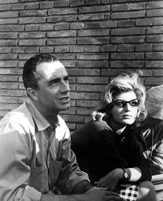 Michelangelo Antonioni and Monica Vitti on the set of L'avventura (1960)