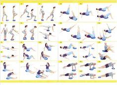 Afbeeldingsresultaat voor pilates oefeningen met kleine bal