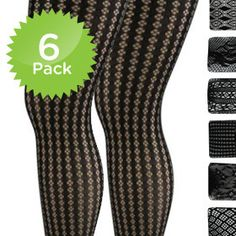 6-Pack of Fishnet Fashion Tights - Black    With the cool autumn weather here and winter around the corner, it's time to start bundling up. But don't worry ladies, that doesn't mean you have to stop showing off those gorgeous gams! Keep your fun and flirty dresses and skirts going throughout the seasons by adding a pair of fabulous Fishnet Pantyhose.