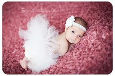 Newborn Tutu Set Baby Tutu White Flower by EmilyzEmbellishments, $22.99