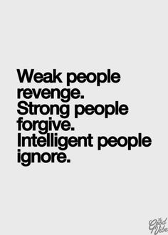 Weak, Strong, Intelligent.