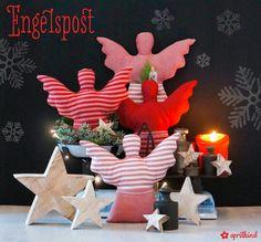 Engelspost, Deko Stoff Engel, Weihnachtsengel nähen