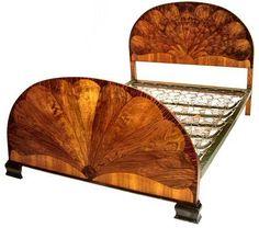 /Art_Deco_fan_shaped_bed Hall Furniture, Art Deco Furniture, Furniture Making, Circle Bed, Half Circle, Dining Suites, Art Deco Bedroom, Art Deco Home, Art Deco Period