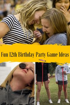 Best 12th Birthday Game Ideas for Pre Teens - Peachy Party Teen Sleepover Games, Boy Party Games, Teen Games, Summer Party Games, Word Games For Kids, Birthday Games For Kids, Games For Teens, Summer Birthday, Birthday Party Games