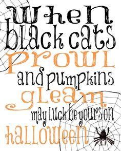 Designs by Samantha: Free Halloween Printable Halloween Quotes, Halloween Cards, Spooky Halloween, Holidays Halloween, Happy Halloween, Halloween Decorations, Halloween Printable, Halloween Phrases, Halloween Tricks