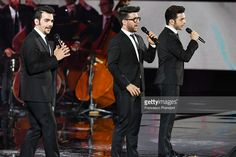 Il volo performs at Bocelli and Zanetti Night on May 25, 2016 in Rho, Italy.
