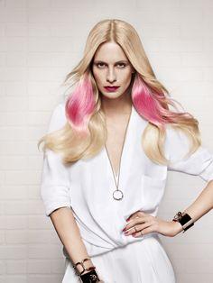 L'Oréal Professionnel's spring/summer 2014 IT LOOKS colour campaign starring Poppy Delevingne. Image courtesy of L'Oréal Professionnel