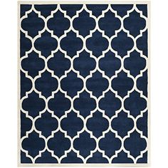 safavieh chatham collection cht733c handmade dark blue and ivory wool area rug 10 feet by amazoncom bush furniture bow