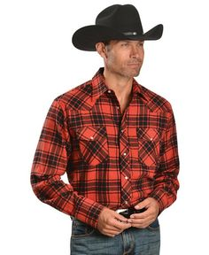 Wrangler Red Plaid 4.5 oz. Flannel Shirt