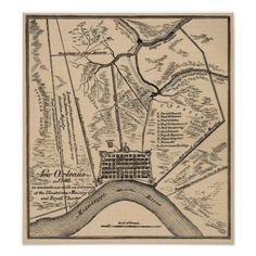 New Orleans Map 1798 Print