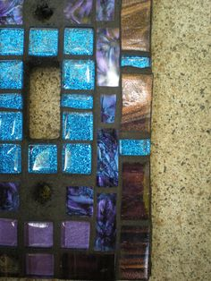 Mosaic Light Switch Cover - Purple and Blue Glass Light Switch Plate. $18.00, via Etsy.