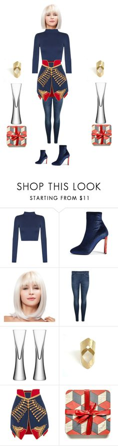 """Red Blue Mini Skirt"" by einder ❤ liked on Polyvore featuring WearAll, Giuseppe Zanotti, True Religion, LSA International and Burberry"
