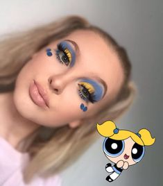 Find out about eye makeup tips and tricks Eye Makeup Glitter, Eye Makeup Art, Colorful Eye Makeup, Skin Makeup, Fairy Makeup, Mermaid Makeup, Disney Eye Makeup, Disney Inspired Makeup, Cartoon Makeup