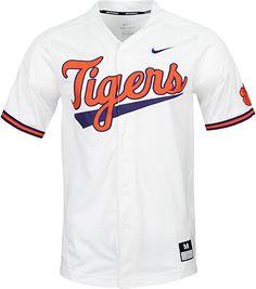 e638e2dd3 Nike Men s Clemson Tigers Dri-FIT Replica Baseball White Jersey