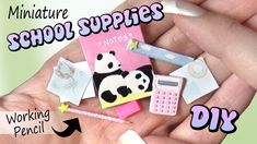 Today's miniature and polymer clay tutorial is for some easy and cute school supplies for miniature dollhouses, barbie dolls, monster high dolls, L.