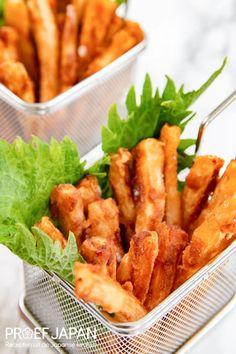 Daikon frietjes met shichimi togarashi mayonaise | Proef Japan Ketchup, Steak, Curry, Ethnic Recipes, Food, Meal, Essen, Steaks, Hoods