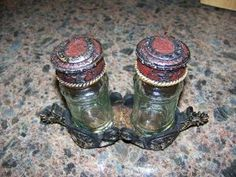 "Longhorn Spur Salt & Pepper Caddy Set by Western Moments. $24.99. If you want something rustic looking here it is. Put this set on your table and all your guest will love it.. This is for all those ""Cowboys"" and ""Cowgirls"" out there, the salt and pepper shakers have a horseshoe on top and lone stars on the side and the caddy has a longhorn spur.This set is very detail and nice.The set measures 7""L by 4""T"