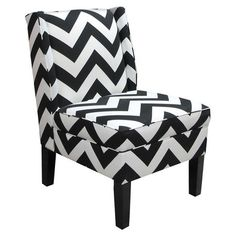 Bring fashion-forward style to your bedroom, living room, or office with this chic chevron wingback chair