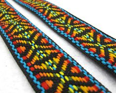 2 Yards 1 Inch Colorful Woven Embroidery by NivaAccessories
