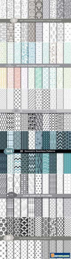 Seamless Patterns Vector Collection 2