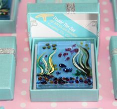 Painted Glass Magnets by MOD ART Studios. Unique Irish Art with Pretty Gift Boxes Glass Magnets, Irish Art, Gift Boxes, Art Studios, Under The Sea, Unique, Frame, Pretty, Gifts