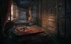 Scene Corridor (for social Hidden Object Game) by denusb on DeviantArt