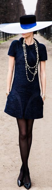 Cute style color block dress and accessories !