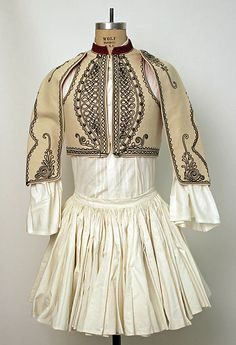 Greece, man's ensemble, cotton skirt and shirt, embroidered wool bolero, Folk Clothing, Greek Clothing, Antique Clothing, Historical Clothing, Greek Traditional Dress, Traditional Outfits, Vintage Outfits, Vintage Fashion, Textiles