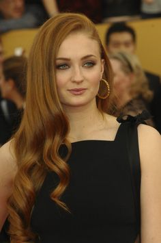 Sophie Turner true redhead...tawny brown ginger