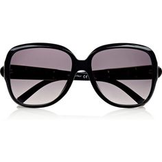 Chloé Square-frame acetate sunglasses (1 300 ZAR) ❤ liked on Polyvore featuring accessories, eyewear, sunglasses, glasses, black, square frame sunglasses, uv protection glasses, square frame glasses, black square frame glasses en black glasses
