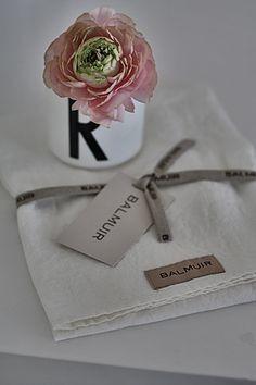 Balmuir linen kitchen towel, picture by Mrs. Jones blog