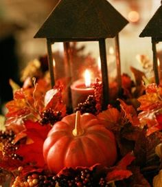 fall wedding decorations on a budget | Fall Harvest Pumpkin Autumn Wedding Centrepiece