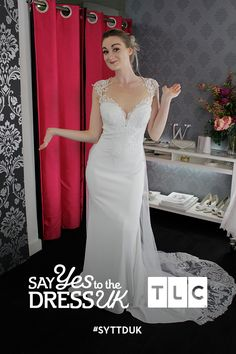 Ta-da! Doesn't our bride look beautiful. 'Like' if you'd say Yes to this dress. Say Yes To the Dress UK on TLC! #SYTTDUK
