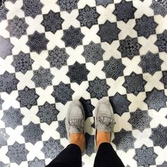 Can't decided if I like the tiles or the shoes more!