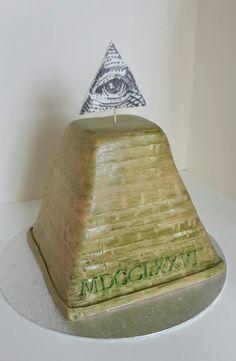 Illuminati pyramid cake