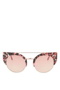 Invest in a staple summer accessory with these pink retro sunglasses.
