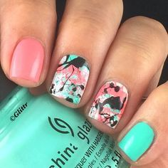 Cool Splatter Nails