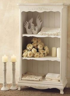 Libreria provenzale bianca Provence Style, Wooden Furniture, Vintage Furniture, White Decor, Country Style, Chalk Paint, 3, Hobby, Outlet